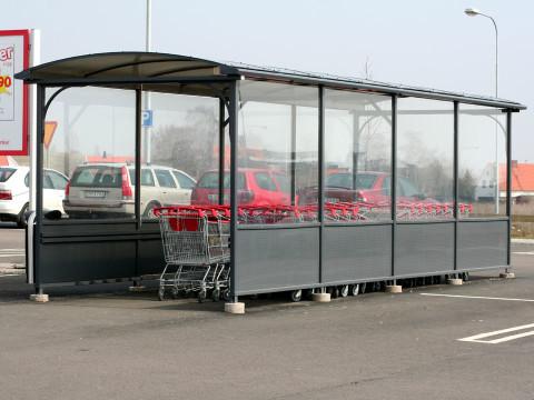 kundvagnsgarage Enkel hålplåt