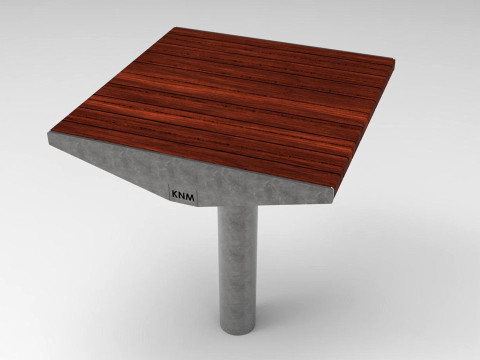 Urbanic bord litet trä ribbor