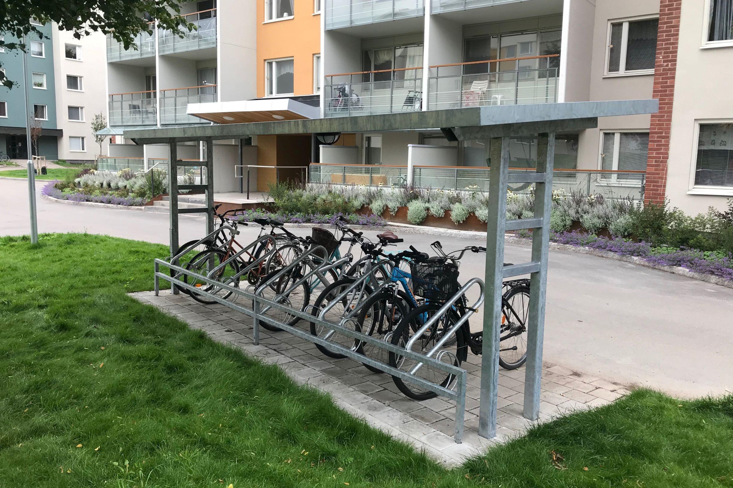 Cykelparkering Gävle 10,5m för 20 cyklar