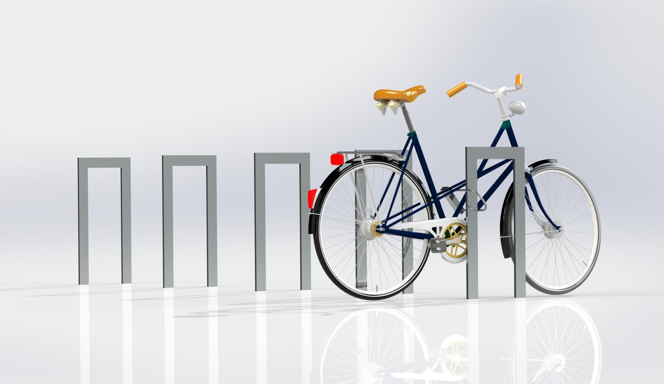 Cykelpollare Planum 350, varmförzinkade, höjd 750mm